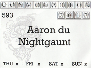 Nightgaunt's ConVocation 2017 Badge